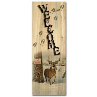 WGI Gallery 'No Hunting' Indoor/Outdoor Wood Welcome Sign
