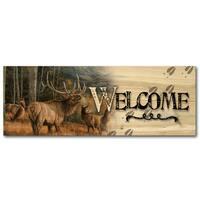 WGI Gallery Wood Meadow Music Elk Indoor/Outdoor Welcome Plaque