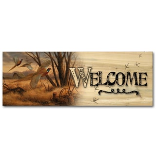 WGI Gallery Prairie Wings Indoor/Outdoor Unframed Welcome Plaque/Sign Printed on Wood