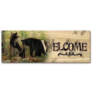 WGI Gallery Playtime Bears Indoor/Outdoor Welcome Plaque