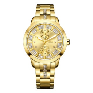 Jbw Women'S Lumen Gold-Plated Multifunctional Diamond Watch