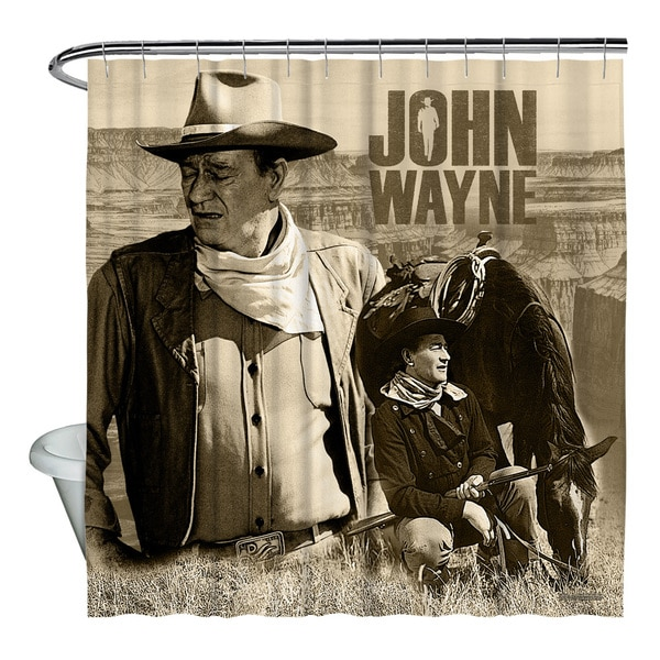 Shop John Wayne Stoic Cowboy Shower Curtain