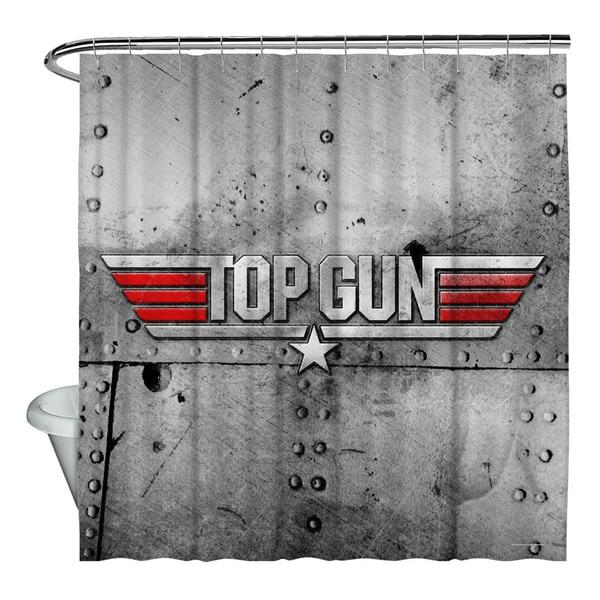 Shop Top Gun Logo Shower Curtain