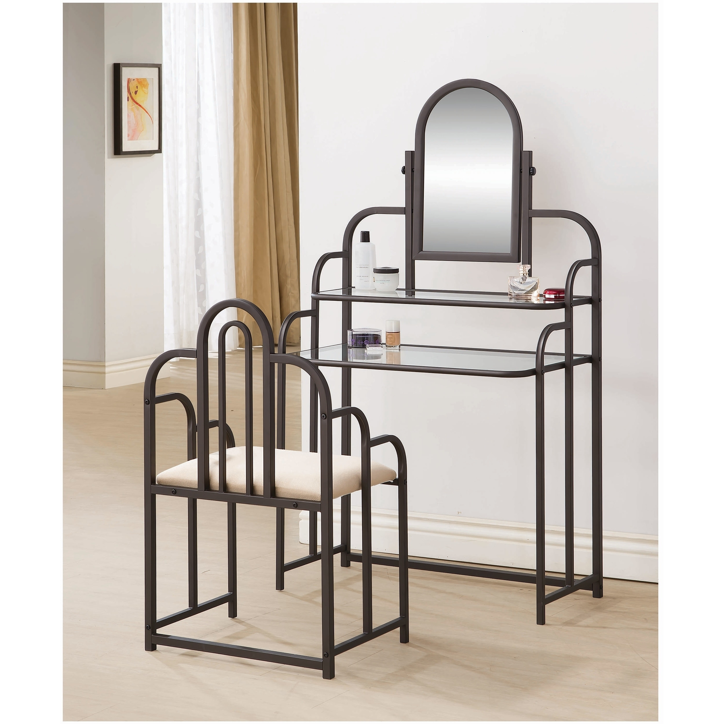 Coaster Company Bohemian 2 Piece Vanity Set With Matching Seat Overstock 12224946