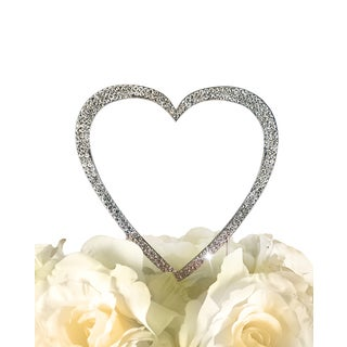 Unik Occasions Silver Sparkling Collection Single-heart Topper