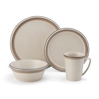 Mikasa Concord Tan 4-piece Dinnerware Set