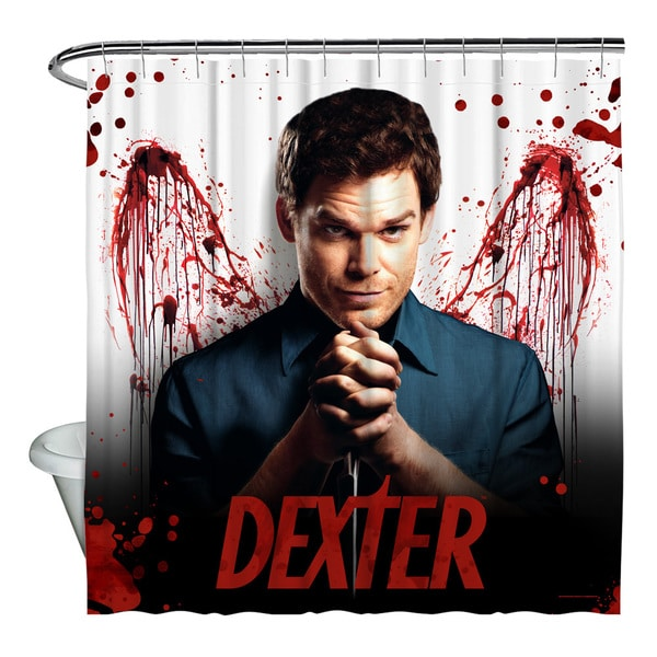 Shop Dexter Blood Never Lies Shower Curtain