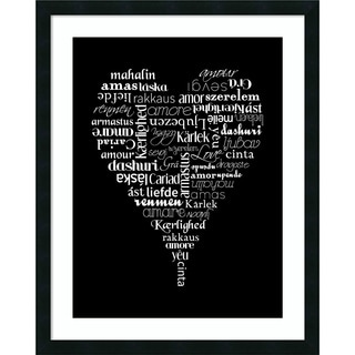 Framed Art Print 'Translation of Love' by Tenisha Proctor 24 x 30-inch