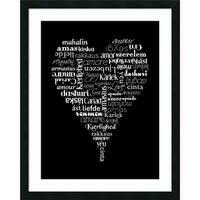 Framed Art Print 'Translation of Love' by Tenisha Proctor 24 x 30-inch