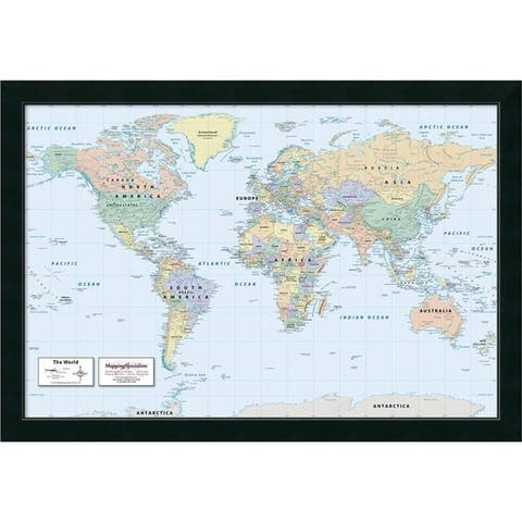 Framed Art Print '2016 World Map, Classic Political' by Mapping Specialists