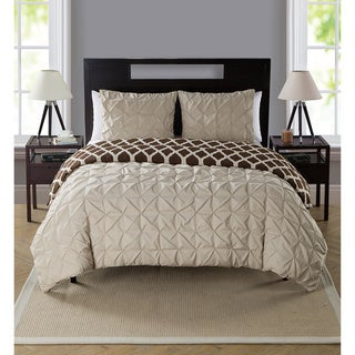 VCNY Scottsdale Reversible 3-peice Duvet Set