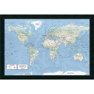 Framed Art Print '2016 World Map, Classic Physical' by Mapping Specialists  39 x 27-inch