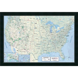 Framed Art Print '2016 United States Map, Classic Physical' by Mapping Specialists 39 x 27-inch