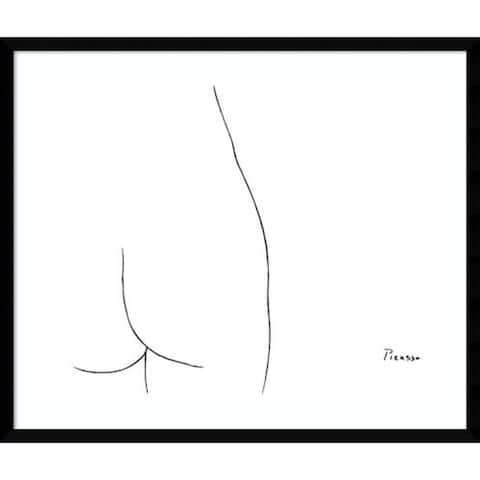 Framed Art Print 'Femme' by Pablo Picasso
