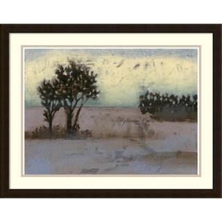 Framed Art Print 'Rustic Meadow I' by Jennifer Goldberger 30 x 23-inch