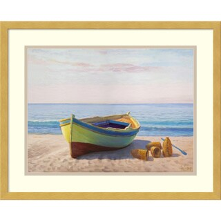 Framed Art Print 'Al mattino boat' by Adriano Galasso 21 x 17-inch