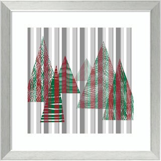 Framed Art Print 'Oh Christmas Tree II' by Sharon Chandler 18 x 18-inch