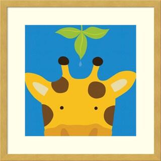 Framed Art Print 'Peek-a-Boo Giraffe' by Yuko Lau 17 x 17-inch