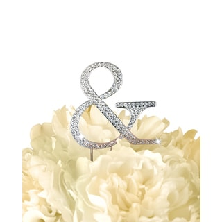 Unik Occasions Collection 'Ampersand' Gold/Silver Rhinestone Wedding Cake Topper