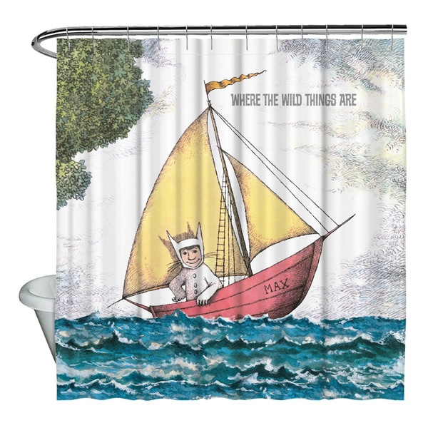 Shop Where The Wild Things Are MaxS Boat Shower Curtain