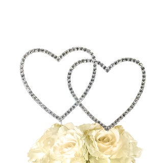 Unik Occasions Simply Elegant Collection Double Heart Cake Topper (2 options available)
