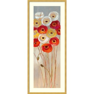 Framed Art Print 'Follow the Sun I Poppies' by Nan 17 x 41-inch