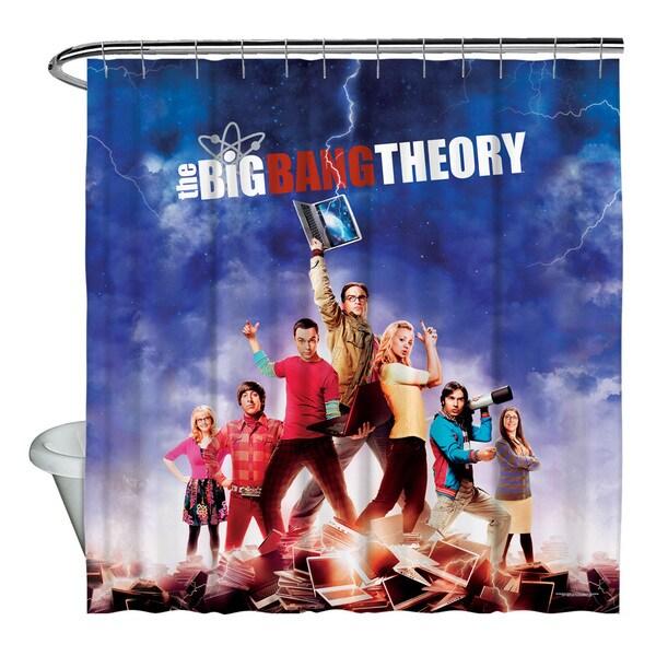 Shop Big Bang Theory Poster Shower Curtain