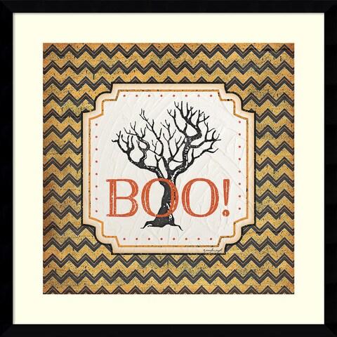 Framed Art Print 'Halloween - Boo' by Jennifer Pugh 21 x 21-inch