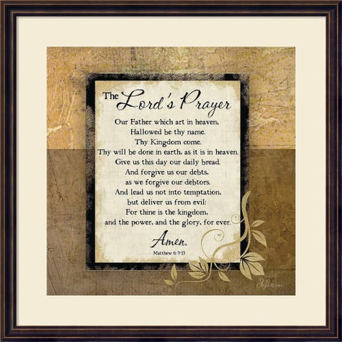Framed Art Print 'The Lord's Prayer' by Jennifer Pugh 22 x 22-inch