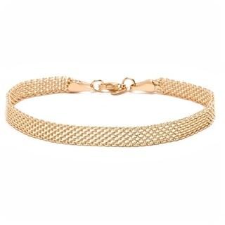 Goldplated Meshed Bracelet - Gold
