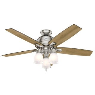 Hunter Fan Donegan Collection 52-inch Brown/SilverBrushed Nickel Distressed Oak Reversible Blades