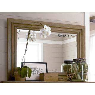 Paula Deen Down Home Oatmeal Wood Landscape Mirror