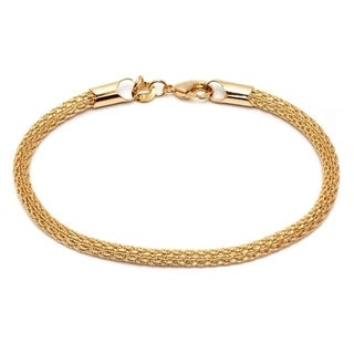 18k Goldplated Mesh-link Chain Bracelet