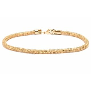 18k Goldplated Wire Meshed Bracelet