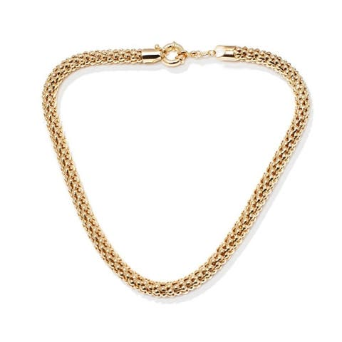 Goldplated Puff Popcorn Chain Necklace - Gold