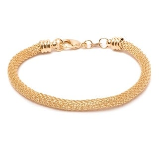 18k Goldplated Meshed Bracelet