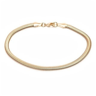 Goldplated 4mm Omega-link Chain Bracelet