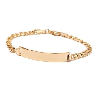 18k Goldplated Id Bracelet