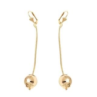 Goldplated Chain Ball Drop Earrings