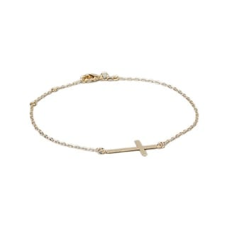 18k Goldplated Cross Ankle Bracelet