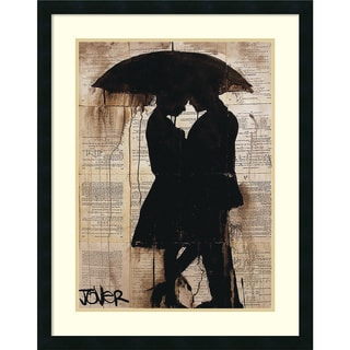 Framed Art Print 'Rain Lovers' by Loui Jover 25 x 32-inch