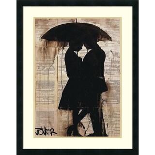 Framed Art Print 'Rain Lovers' by Loui Jover 25 x 32-inch