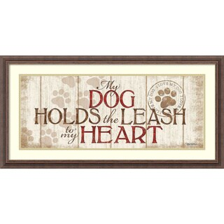 Framed Art Print 'My Dogs' by Kathy Middlebrook 37 x 19-inch