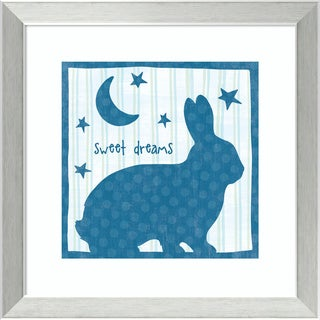 Framed Art Print 'Le Lapin I' by Wild Apple Portfolio 16 x 16-inch