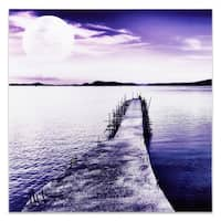 Empire Art 'Moonlit Dock' Tempered Glass Frameless Free Floating Art