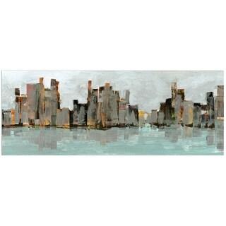 Empire Art 'Second City' Frameless Free-floating Tempered Art Glass