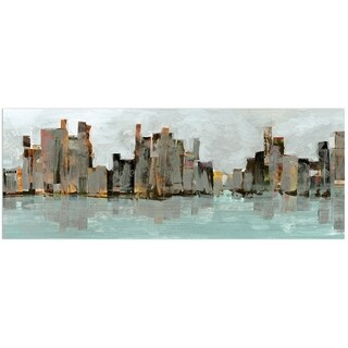 Empire Art 'Second City' Frameless Free-floating Tempered Art Glass