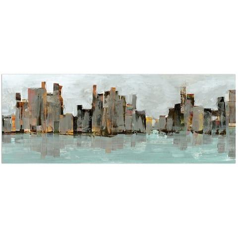 'Second City' Wall Art Frameless Free-floating Tempered Art Glass