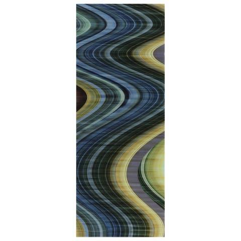 Empire Art 'Rumba 2' Tempered Glass Frameless Free-floating Art Print