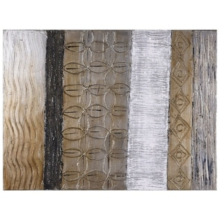 Empire Art 'Damask' Hand-painted Heavily Textured Bold Neutrals Fine Art by Martin Edwards